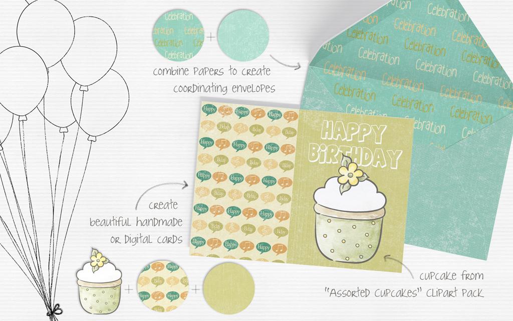 Celebration Digital Paper Pack