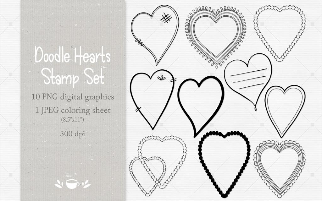 Doodle Hearts Stamp Set